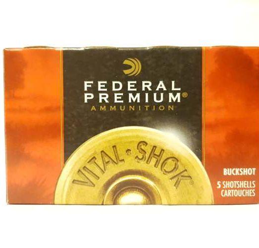 "federal p156 vital shot buckshot semi magnum 2 3/4"" 12bolo"
