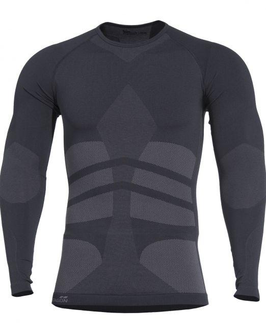 isothermikh mplouza plexis shirt k11009-01 black